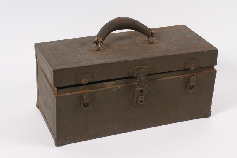 2014.498.3 a front Toolbox given to a Polish refugee in a DP camp vocational class