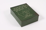 Green metal box with a map of South Africa received by a girl in a Jewish orphanage