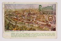 2014.480.85 front Postcard of the Pilsner Brewery in Plzen  Click to enlarge