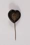 Heart shaped plastic stickpin