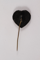 2015.265.2 back Heart shaped plastic stickpin  Click to enlarge