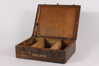 2014.463.2 open Wooden box used by a US soldier assigned to photograph the Nuremberg War Crimes Trials  Click to enlarge