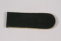 Olive shoulder board with gold piping acquired by US soldier
