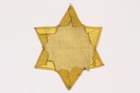 2015.472.1 back Star of David badge  Click to enlarge