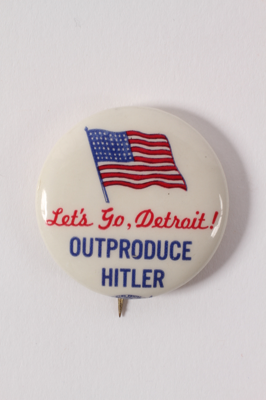 2015.224.14 front Detroit Outproduce Hitler pin