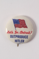 2015.224.14 front Detroit Outproduce Hitler pin  Click to enlarge