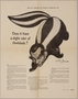 Arthur Szyk poster of Goebbels with the head of a skunk