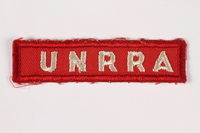 1998.A.0122.2 Front UNRRA badge  Click to enlarge