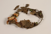 2012.444.2 b front Oak leaf wreath separated into sections awarded prewar to a Jewish youth for swimming across the Rhine River  Click to enlarge
