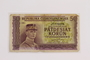 Republic of Czechoslovakia, paper currency, 50 korun note owned by a Hungarian Jewish former concentration camp inmate