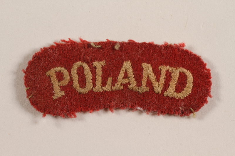 2012.471.12 front Poland military patch worn by a Jewish soldier, 2nd Polish Corps