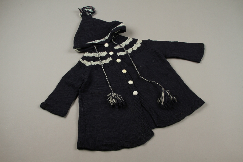2018.126.16 front Child's hooded sweater coat