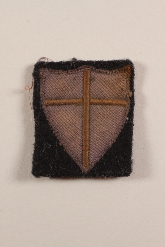 2012.471.15 front British 8th Army sleeve badge worn by a Jewish soldier, 2nd Polish Corps