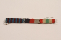 2012.471.24 front Riband bar with three ribbons awarded to a Jewish soldier, 2nd Polish Corps  Click to enlarge