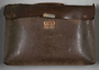 Dark brown leather briefcase brought to the US by a Jewish Hungarian refugee