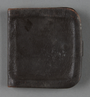 2013.117.5 back Brown leather wallet with a strap brought to the US by a Jewish Hungarian refugee  Click to enlarge