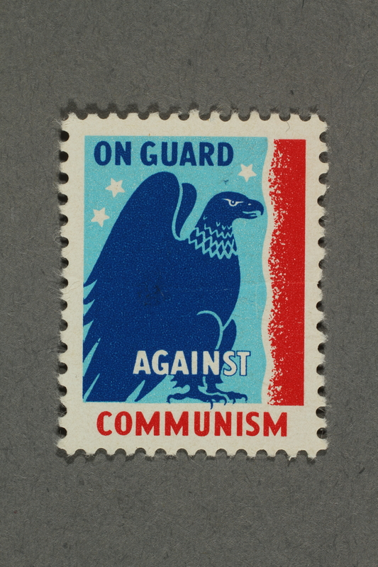 2018.233.2 front Anti-communist poster stamp with an eagle