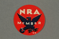 2018.233.9 front Circular NRA (National Recovery Administration) membership stamp  Click to enlarge