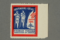 2018.233.17 front Poster stamp celebrating American Independence Day  Click to enlarge