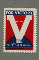 2018.233.18 front Poster stamp promoting the V for Victory campaign  Click to enlarge