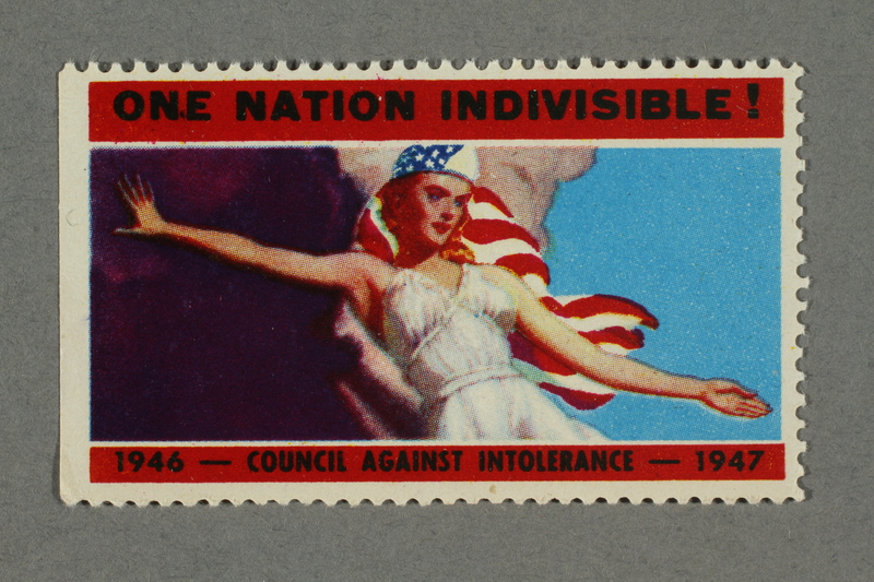 2018.233.19 front Poster stamp with an image of Columbia