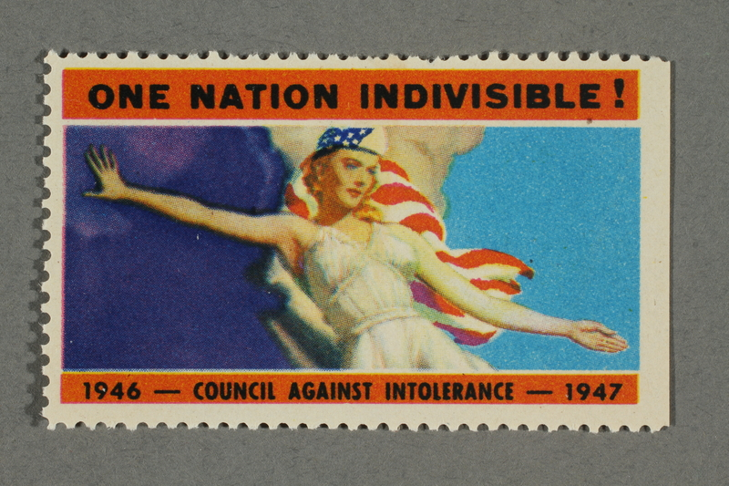 2018.233.20 front Poster stamp with an image of Columbia
