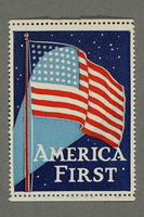 2018.233.23 front Nationalistic WWII American poster stamp  Click to enlarge