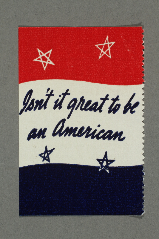 2018.233.29 front Patriotic American WWII poster stamp