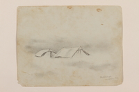 2012.471.53 front Pencil drawing of two tents created by a Jewish soldier, 2nd Polish Corps  Click to enlarge