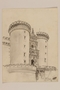 Architectural study of the Arch of Aragon, Castle Nuovo by a Jewish soldier, 2nd Polish Corps