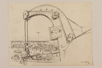 2012.471.108 front Pencil drawing of a ship hoist and the harbor by a Jewish soldier, 2nd Polish Corps  Click to enlarge