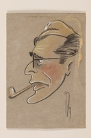 2012.471.80 front Self portrait caricature by a Jewish soldier, 2nd Polish Corps  Click to enlarge