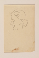 2012.471.82 front Portrait sketch in pencil of a woman in left profile by a Jewish soldier, 2nd Polish Corps  Click to enlarge