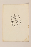2012.471.81 front Portrait sketch in ink of a woman in left profile by a Jewish soldier, 2nd Polish Corps  Click to enlarge