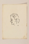 Portrait sketch in ink of a woman in left profile by a Jewish soldier, 2nd Polish Corps