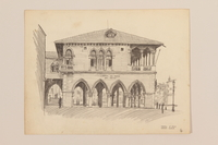 2012.471.167 other Portfolio of architectural drawings of Italy done by a Jewish soldier, 2nd Polish Corps  Click to enlarge