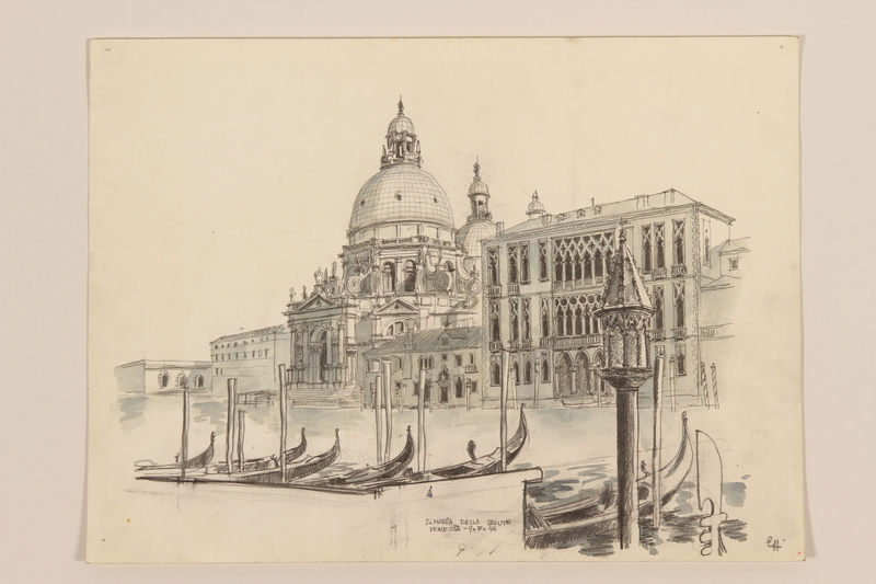 2012.471.167 other Portfolio of architectural drawings of Italy done by a Jewish soldier, 2nd Polish Corps