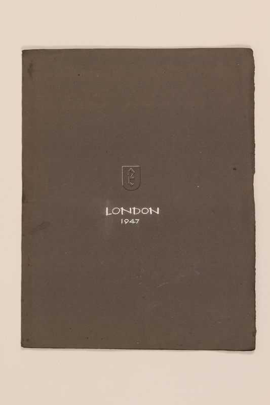 2012.471.170 closed Portfolio of 4 drawings of London buildings by a Jewish veteran, 2nd Polish Corps