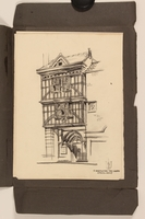 2012.471.170 St. Bartholomew the Great Portfolio of 4 drawings of London buildings by a Jewish veteran, 2nd Polish Corps  Click to enlarge