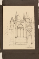 2012.471.170 Westminster - Chapel House Portfolio of 4 drawings of London buildings by a Jewish veteran, 2nd Polish Corps  Click to enlarge