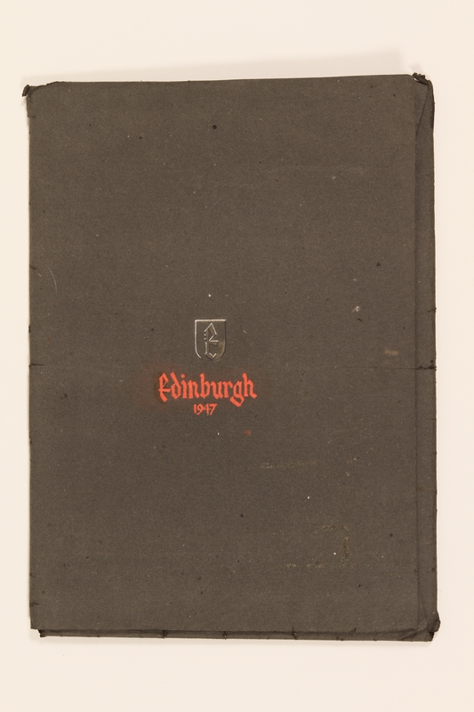2012.471.171 closed Portfolio of drawings of Edinburgh by a Jewish veteran, 2nd Polish Corps