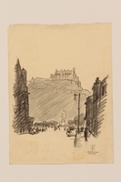2012.471.171 open Portfolio of drawings of Edinburgh by a Jewish veteran, 2nd Polish Corps  Click to enlarge