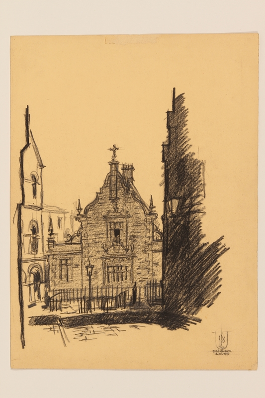 2012.471.171 other Portfolio of drawings of Edinburgh by a Jewish veteran, 2nd Polish Corps