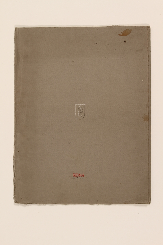 2012.471.169 closed Portfolio of 11 drawings of Roman buildings by a Jewish soldier, 2nd Polish Corps