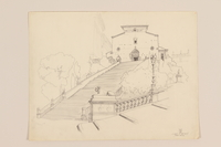 2012.471.169 S. Maria di Aracoeli Portfolio of 11 drawings of Roman buildings by a Jewish soldier, 2nd Polish Corps  Click to enlarge