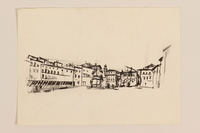 2012.471.169 Unknown Piazza Portfolio of 11 drawings of Roman buildings by a Jewish soldier, 2nd Polish Corps  Click to enlarge