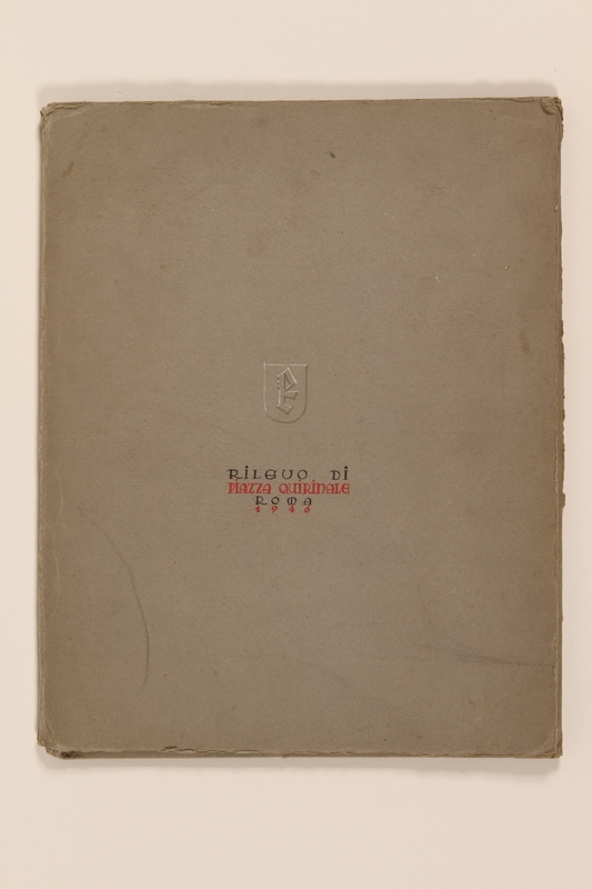 2012.471.168 Rilevo Di Piazza Quirinale, ROMA, 1946 exterior portfolio Portfolio of architectural studies of 2 sites in Rome by a Jewish soldier, 2nd Polish Corps