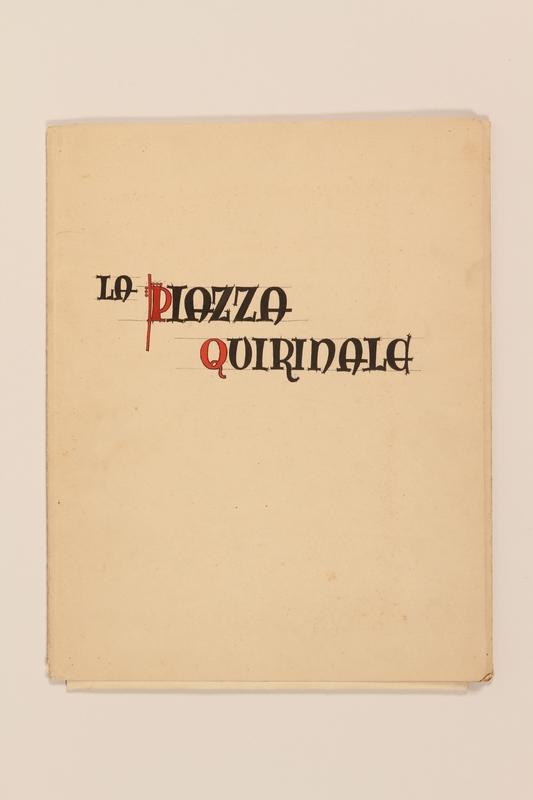 2012.471.168 La Piazza Quirinale portfolio Portfolio of architectural studies of 2 sites in Rome by a Jewish soldier, 2nd Polish Corps