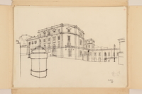 2012.471.168 Scuderie del Quirinale [Papal Stables] Portfolio of architectural studies of 2 sites in Rome by a Jewish soldier, 2nd Polish Corps  Click to enlarge