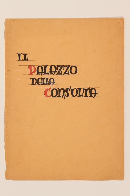 2012.471.168 Il Palazzo Della Consulta portfolio Portfolio of architectural studies of 2 sites in Rome by a Jewish soldier, 2nd Polish Corps